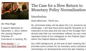 Charles L. Evans on FED WEB